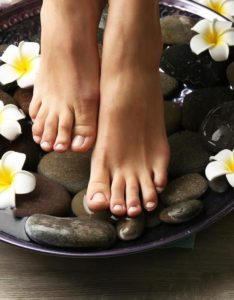 The NEWS hot stone pedicure.